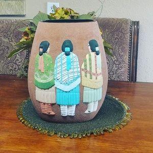 Tribal/ indian flower pot or just decoration vase.